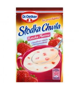 Dr. Oetker Słodka Chwila Kaszka manna z kawałkami owoców smak truskawkowy 47,5 g