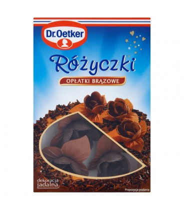 Dr. Oetker Różyczki opłatki brązowe 6 sztuk