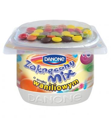 Danone Zakręcony Mix Jogurt o smaku waniliowym 125 g