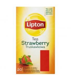 Lipton Truskawkowa Herbata czarna aromatyzowana 32 g (20 torebek)