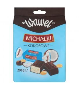 Wawel Michałki Kokosowe Cukierki w czekoladzie 280 g