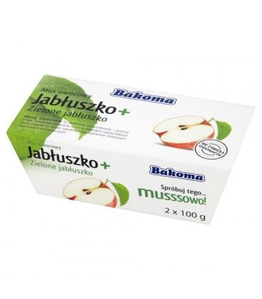 Bakoma Mus owocowy Jabłuszko + Zielone jabłuszko 200 g (2 sztuki)