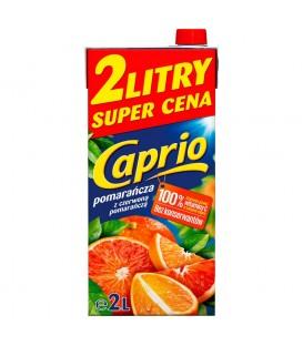 Caprio Pomarańcza z czerwoną pomarańczą napój 2 l karton
