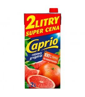 Caprio Różowy grejpfrut napój 2 l karton