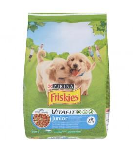Friskies Vitafit Junior z kurczakiem dodatkiem mleka i warzyw Karma dla szczeniąt 500 g