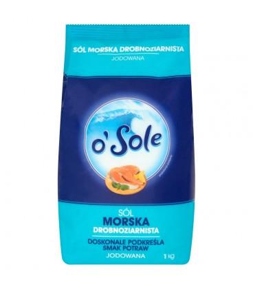 o'Sole Sól morska drobnoziarnista jodowana 1 kg