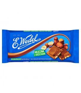 E. Wedel Czekolada mleczna z orzechami laskowymi 100 g