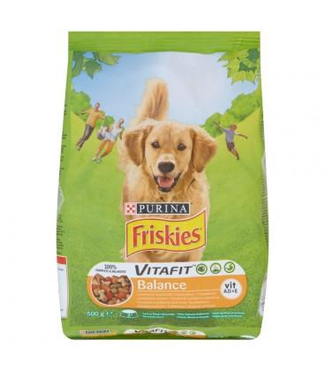 Friskies Vitafit Balance z kurczakiem i dodatkiem warzyw Karma dla dorosłych psów 500 g