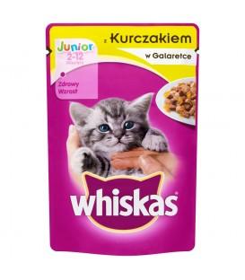Whiskas Junior z kurczakiem w galaretce Karma pełnoporcjowa 2-12 miesięcy 100 g