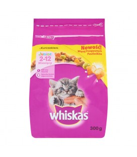 WHISKAS JUNIOR DRY KURCZAK 300