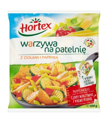 Hortex Warzywa na patelnię z ziołami i papryką 450 g