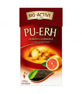 Big-Active Pu-Erh Herbata czerwona o smaku grejpfrutowym liściasta 100 g