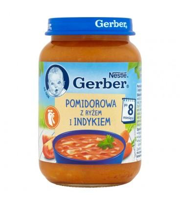 Gerber Pomidorowa z ryżem i indykiem po 8 miesiącu 190 g