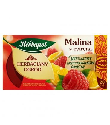 Herbapol Herbaciany Ogród Malina z cytryną Herbatka owocowo-ziołowa 54 g (20 saszetek)
