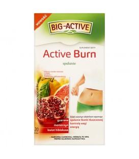 Big-Active Active Burn Suplement diety Herbatka ziołowo-owocowa 40 g (20 torebek)