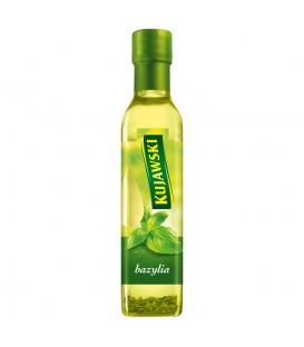 Kujawski Olej rzepakowy z pierwszego tłoczenia z bazylią 250 ml