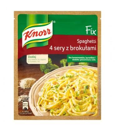 Knorr Fix Spaghetti 4 sery z brokułami 43 g