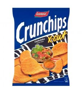 Crunchips X-Cut Chakalaka Smak Afryki Chipsy ziemniaczane 150 g
