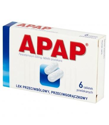 Apap 500 mg Tabletki powlekane 6 tabletek