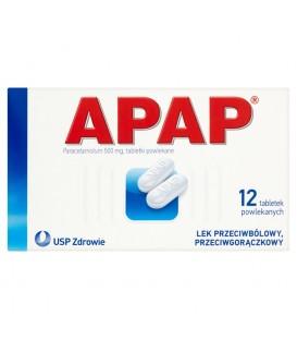 Apap 500 mg Tabletki powlekane 12 tabletek