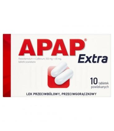 Apap Extra 500 mg + 65 mg Tabletki powlekane 10 tabletek