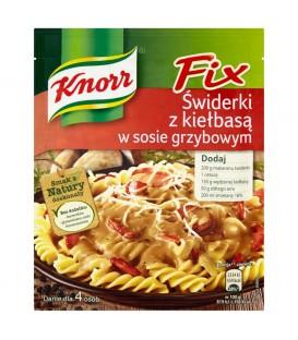Knorr Fix Świderki z kiełbasą w sosie grzybowym 36 g