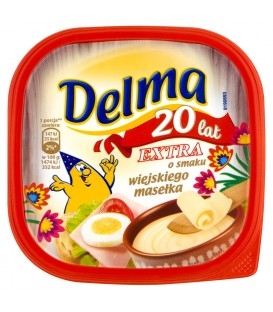 Delma Extra o smaku wiejskiego masełka Margaryna 450 g