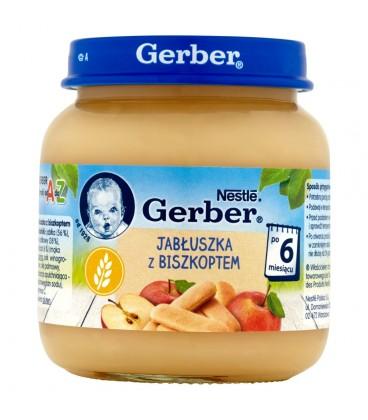 Gerber Jabłuszka z biszkoptem po 6 miesiącu 125 g