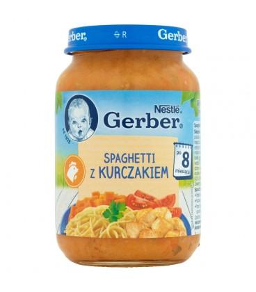 Gerber Spaghetti z kurczakiem po 8 miesiącu 190 g