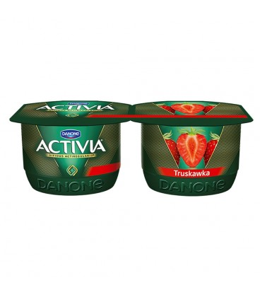 Danone Activia Truskawka Jogurt 240 g (2 sztuki)