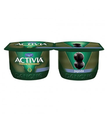 Danone Activia Jagoda Jogurt 240 g (2 sztuki)