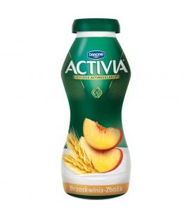Danone Activia Brzoskwinia zboża Jogurt 195 g