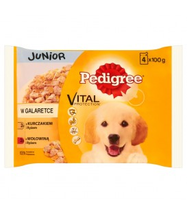 PEDIGREE JUNIOR KUR,RYŻ/WOŁ,RYŻ 4X100G