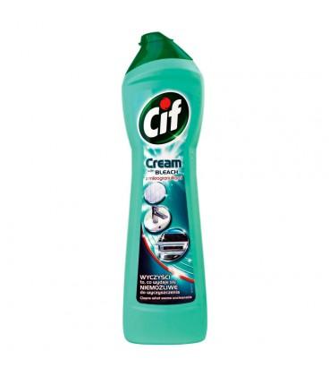Cif Cream with Bleach z mikrogranulkami Mleczko do czyszczenia powierzchni 500 ml
