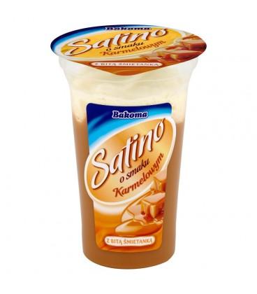 Bakoma Satino Deser o smaku karmelowym z bitą śmietanką 170 g