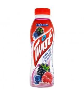 Bakoma Twist Jogurt z owocami leśnymi 400 g