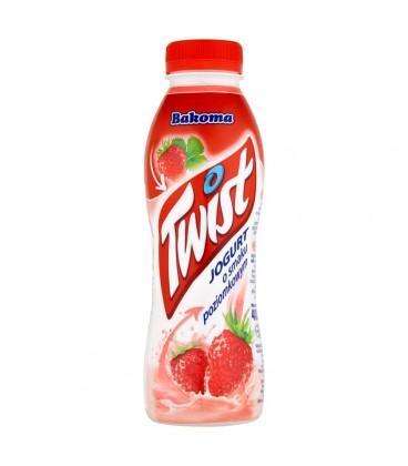 Bakoma Twist Jogurt o smaku poziomkowym 400 g