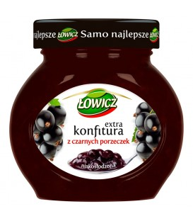 Łowicz Konfitura extra z czarnych porzeczek niskosłodzona 240 g