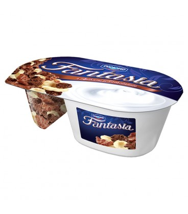 Danone Fantasia Jogurt kremowy z płatkami w czekoladzie 106 g