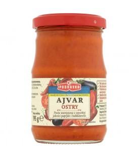 Podravka Smak kuchni śródziemnomorskiej Ajvar ostry Pasta warzywna 195 g