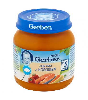 Gerber Jarzynki z łososiem po 5 miesiącu 125 g
