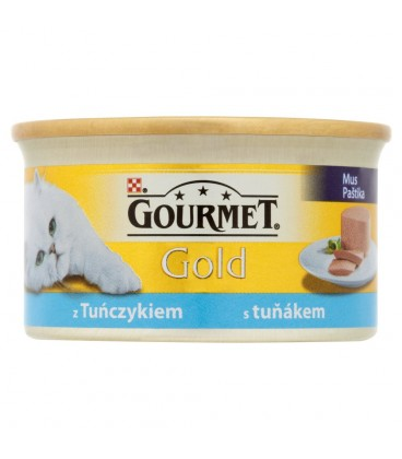 Gourmet Gold Mus z tuńczykiem Pełnoporcjowa karma dla dorosłych kotów 85 g