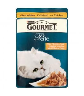 Gourmet Perle Mini fileciki w sosie z kurczakiem Karma dla kotów 85 g
