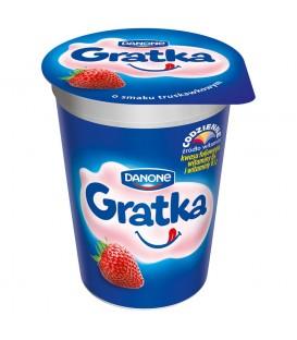 Danone Gratka o smaku truskawkowym Deser 290 g