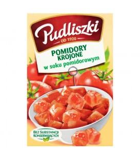 Pudliszki Pomidory krojone w soku pomidorowym 390 g