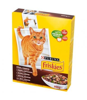 Friskies z mięsem kurczakiem i dodatkiem warzyw Karma dla dorosłych kotów 300 g
