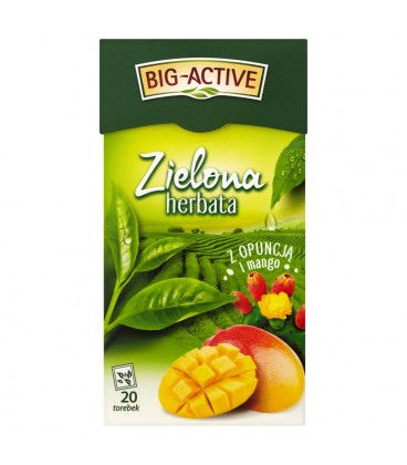 Big-Active Zielona herbata z opuncją i mango 34 g (20 torebek)