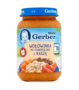 Gerber Kuchnia Polska Wołowinka po staropolsku z kaszą po 10 miesiącu 190 g