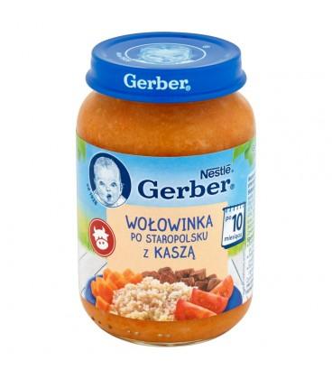 Gerber Wołowinka po staropolsku z kaszą po 10 miesiącu 190 g