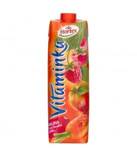 Hortex Vitaminka Malina marchewka jabłko Sok 1 l